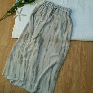 **Anthropologie Philosophy Marble Chiffon Skirt**